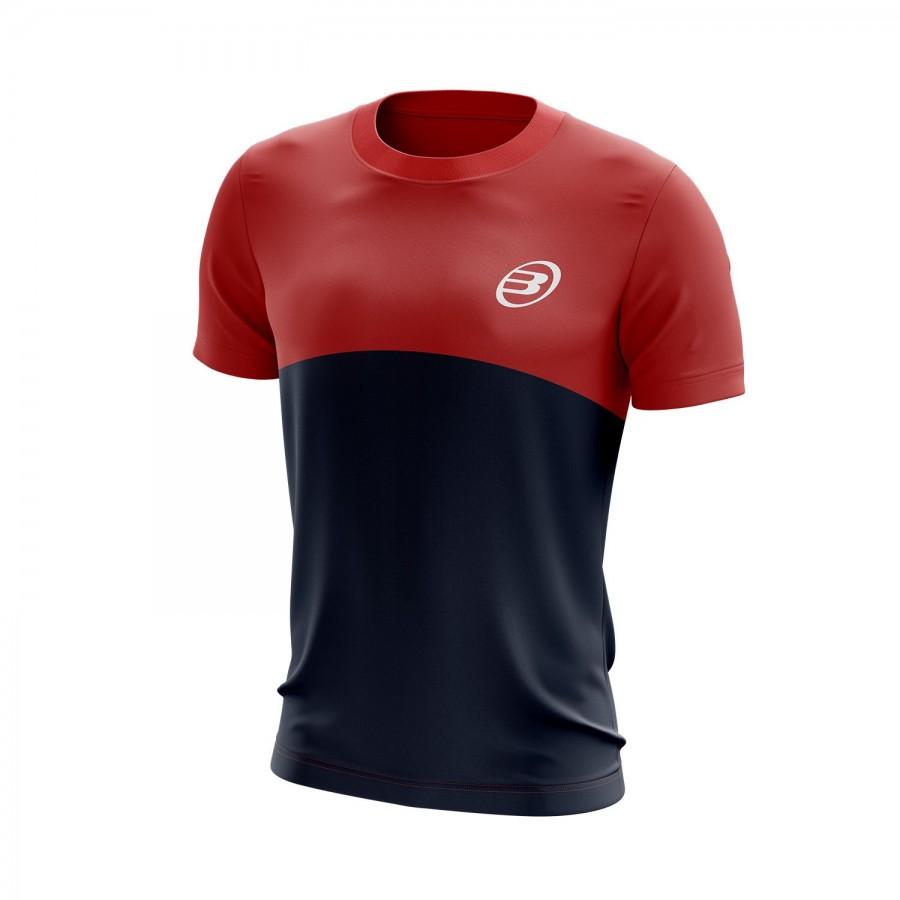 Camiseta Bullpadel Benamariel Rojo Azul Marino