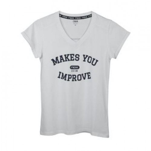 -25% Camiseta Nox Mujer Basic Blanco - Barata Oferta Outlet 63eb4a1605e69
