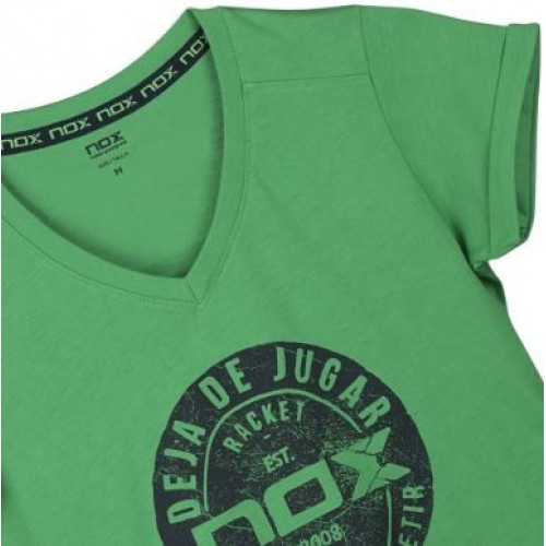 -25% Camiseta Nox Mujer Basic Verde - Barata Oferta Outlet 54d9e8926c87f
