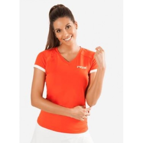 Camiseta Nox Team Roja Logo Blanco - Barata Oferta Outlet