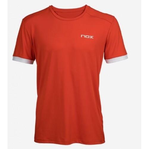 T-shirt Nox Team Red Logo white - Barata Oferta Outlet
