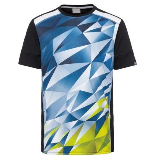 Camiseta Head Medley Azul Amarillo - Barata Oferta Outlet