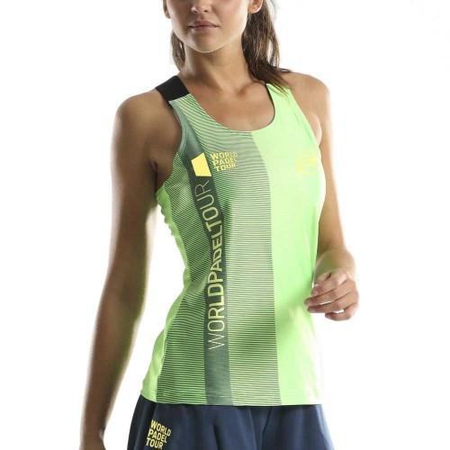 Camiseta Bullpadel WPT Taruna Verde Fluor