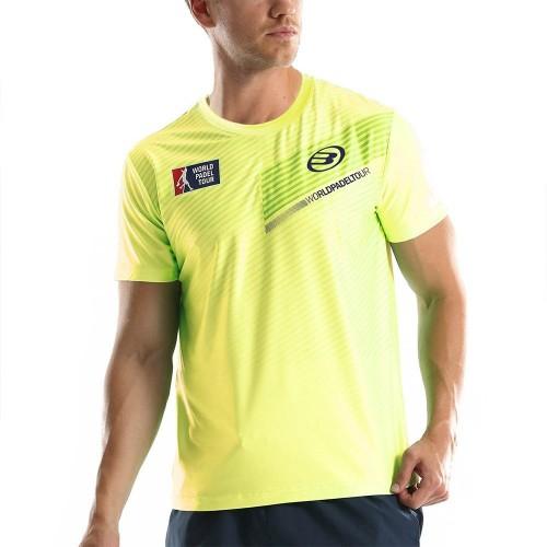 Camiseta Bullpadel WPT Tefilo Amarillo Limon Fluor