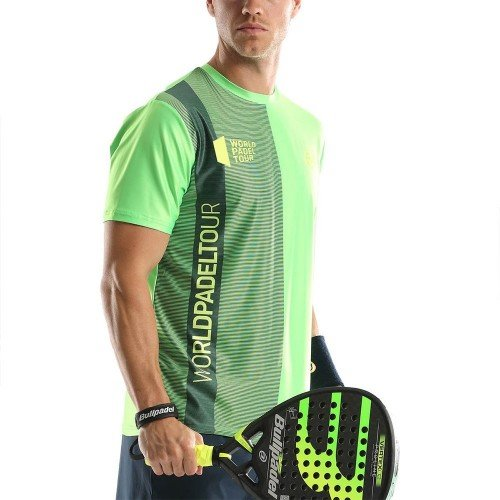 Camiseta Bullpadel WPT Tugo Verde Fluor