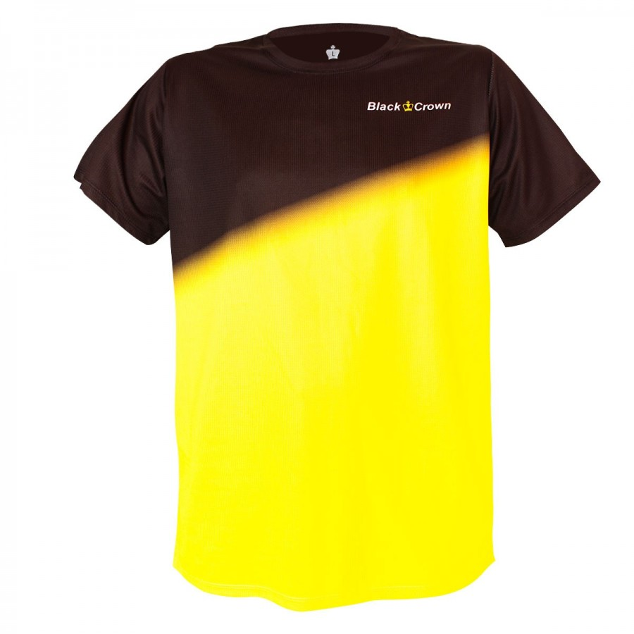 Camiseta Black Crown Tour Negro Amarillo