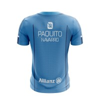 Camiseta Bullpadel Paquito Navarro Joyce Azul Fluor 2019 II