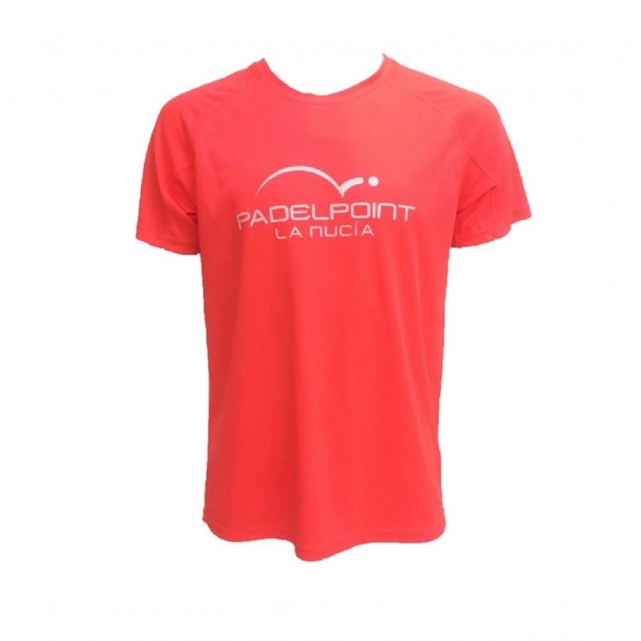 Camiseta Padelpoint Naranja Fluor