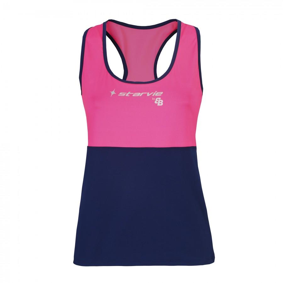 Camiseta StarVie Studio Rosa Azul Marino By BB