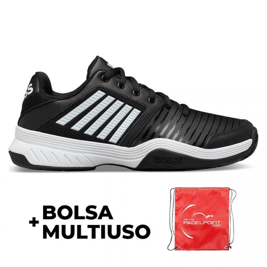 Zapatillas Kswiss Court Express HB Negro Blanco - Barata Oferta Outlet