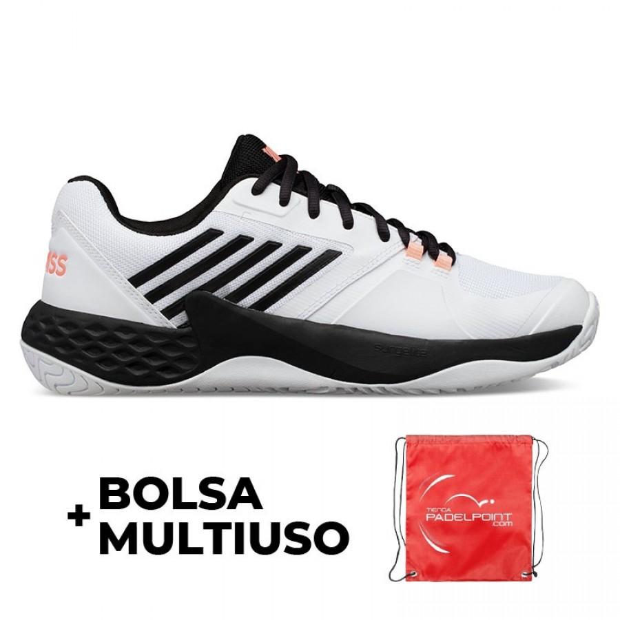 Zapatillas Kswiss Aero Court Blanco Coral Neon - Barata Oferta Outlet