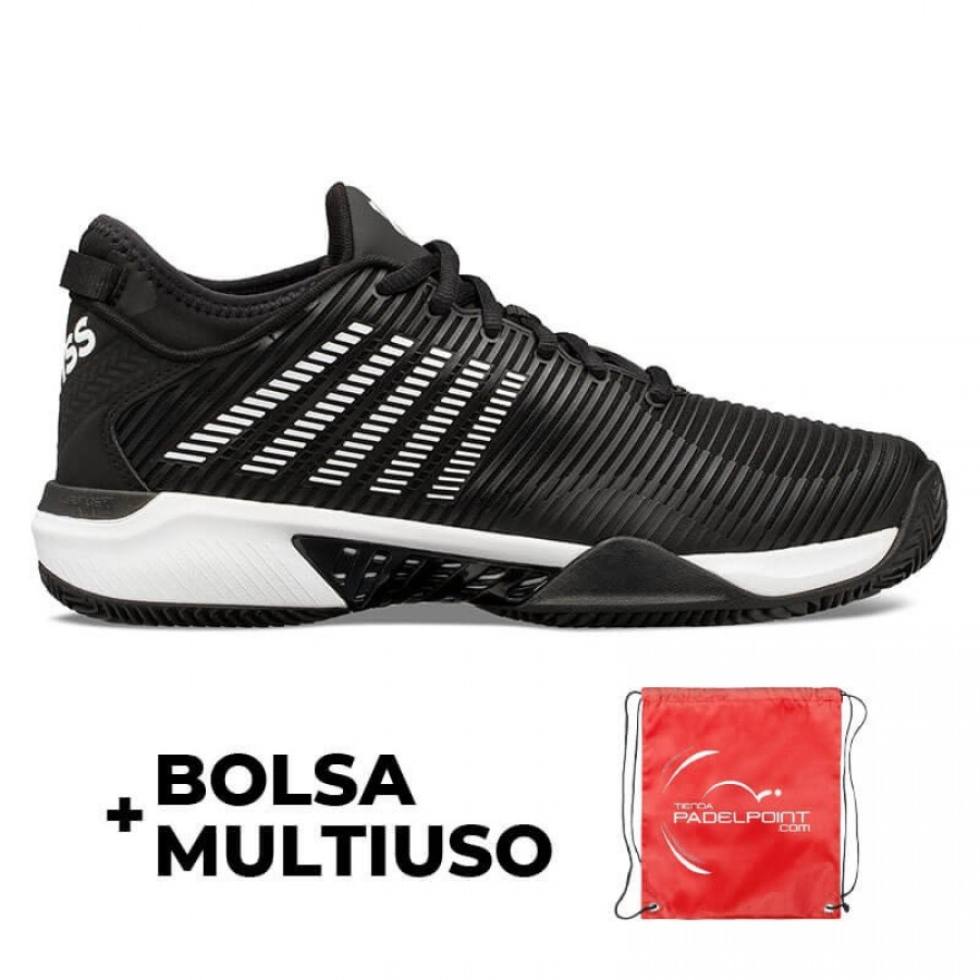 Zapatillas Kswiss Hypercourt Supreme HB Negro Blanco - Barata Oferta Outlet