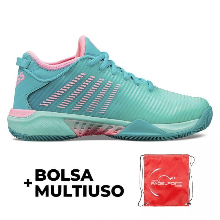 Zapatillas Kswiss Hypercourt Supreme HB Turquesa Rosa - Barata Oferta Outlet