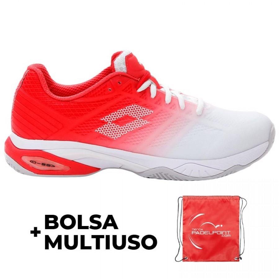 Zapatillas Lotto Mirage 300 II Blanco Rojo - Barata Oferta Outlet