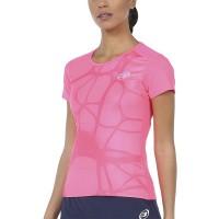 Camiseta Bullpadel Imperia Rosa Fluor