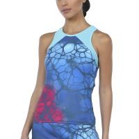 Camiseta Bullpadel Irus Azul Abyss Estampado - Barata Oferta Outlet