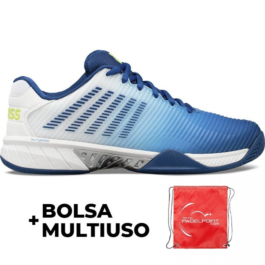 Zapatillas Kswiss Hypercourt Express 2 Blanco Azul - Barata Oferta Outlet