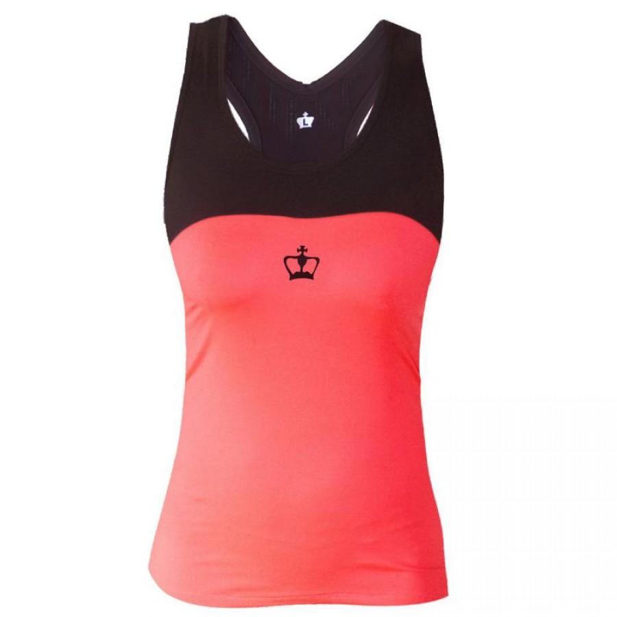 Camiseta Black Crown Cusco Coral Negro