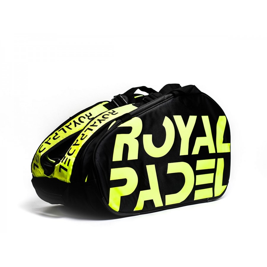Paletero Royal Padel Negro Amarillo