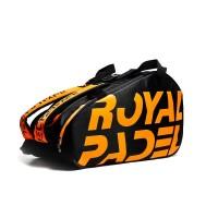 Paletero Royal Padel Negro Naranja