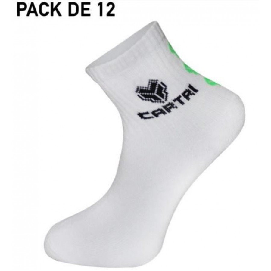 Calcetines Cartri White 12 pares
