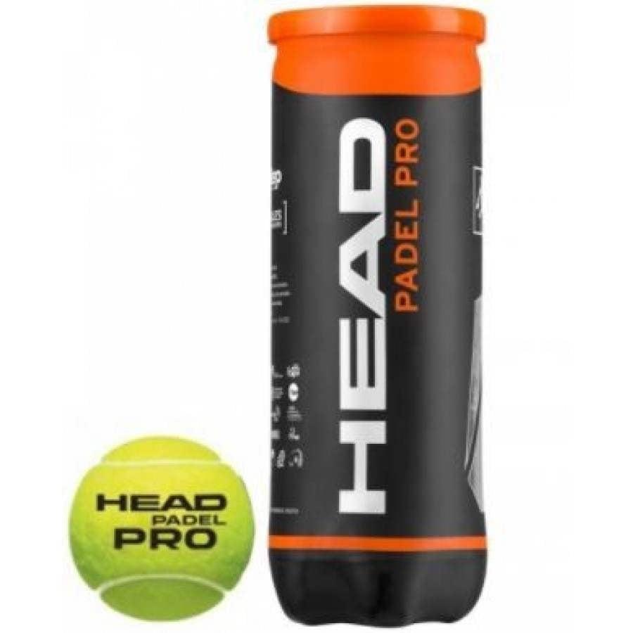 Pelotas de Padel HEAD PADEL PRO 1 BOTE - Barata Oferta Outlet