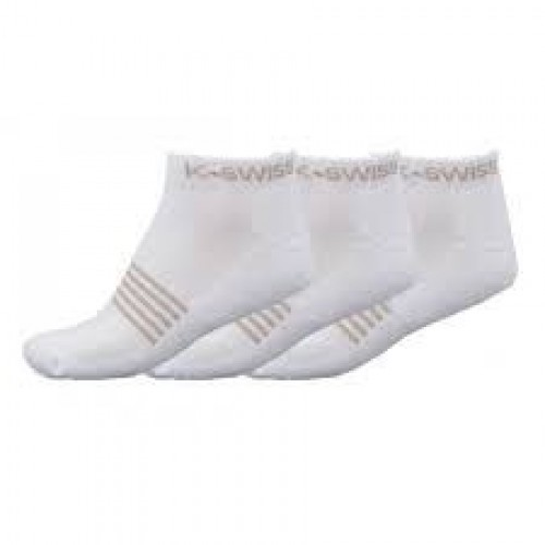 SOCKS PADDLE K SWISS ALL COURT SOCKS 3PK WHITE size 35-38 - Barata Oferta Outlet