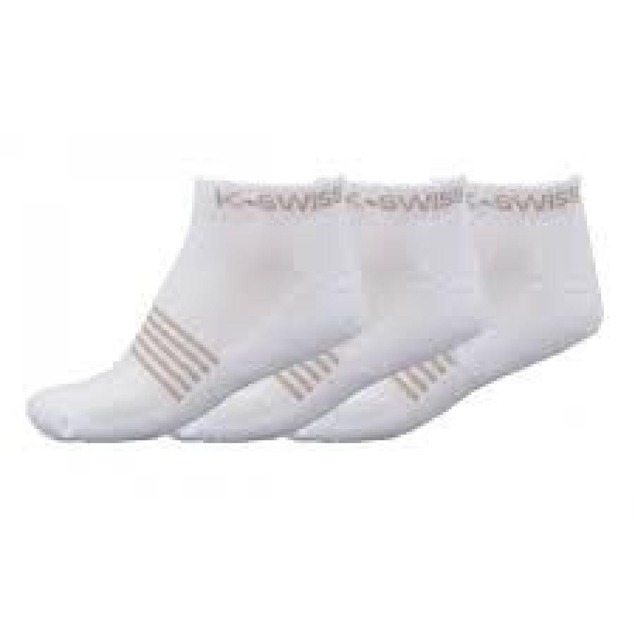 SOCKS PADDLE K SWISS ALL COURT SOCKS 3PK WHITE size 35-38 - Barata Oferta Outlet