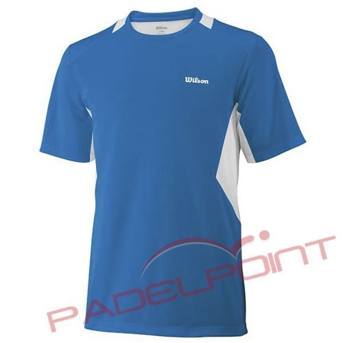 VÊTEMENTS DE RAQUETTE WILSON T-SHIRT B JR GRAND BLEU