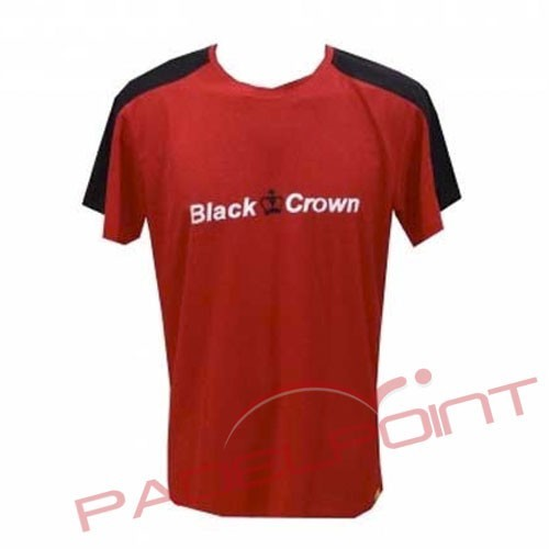 BLACK CROWN T-SHIRT RED GAME PADDLE CLOTHING - Barata Oferta Outlet