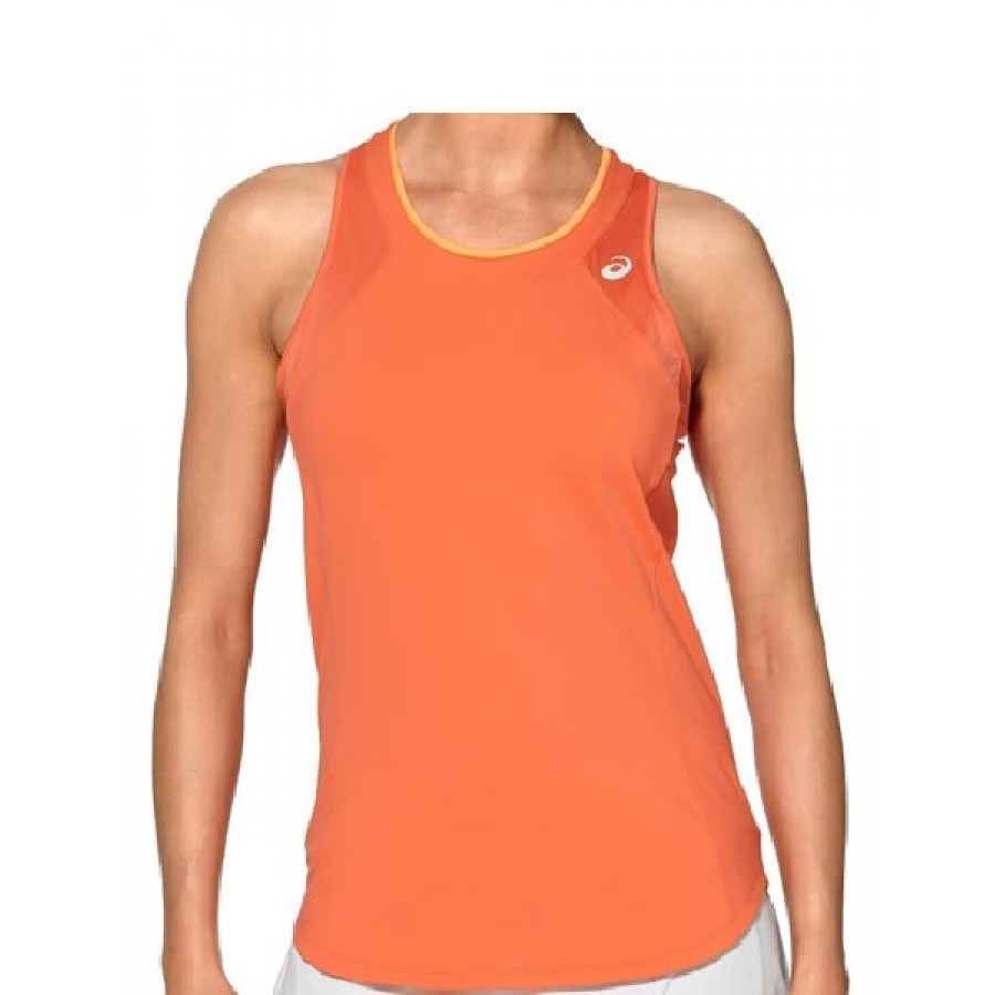 ASICS TOP ATHLETE TANK CORALICIOUS PADDLE CLOTHING - Barata Oferta Outlet