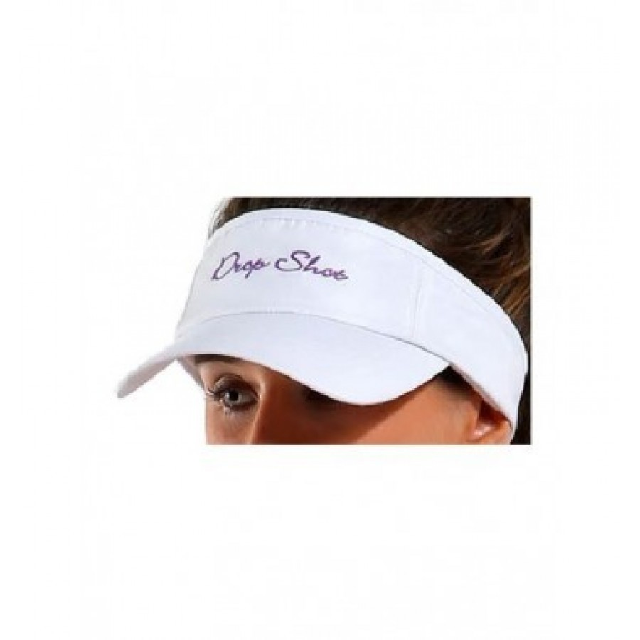 PADDLE TENNIS DROP SHOT WHITE VISOR - Barata Oferta Outlet