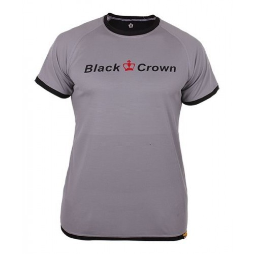 ROPA DE PADEL BLACK CROWN CAMISETA X3 GRIS NEGRO - Barata Oferta Outlet