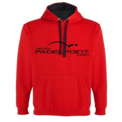 Paddle PADELPOINT abbigliamento felpa con cappuccio rosso - Barata Oferta Outlet