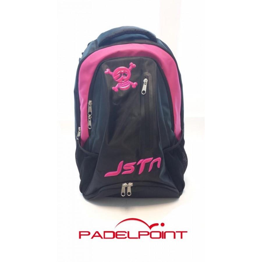 Padel JUST TEN black pink backpack - Barata Oferta Outlet