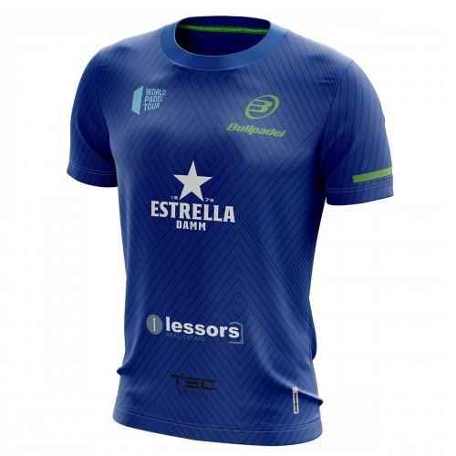 Camiseta Bullpadel Maxi Sanchez WPT Tanos Azul Real 2019