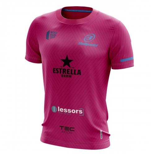 Camiseta Bullpadel Maxi Sanchez WPT Tanos Fresa 2019