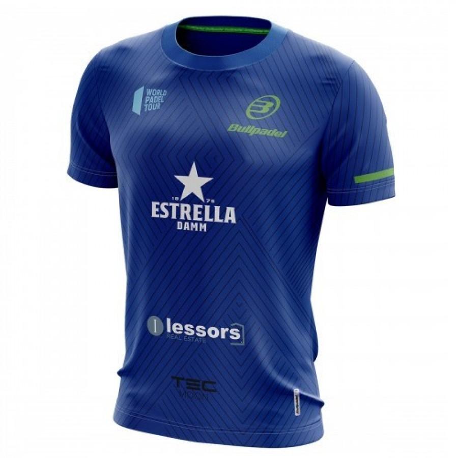 Camiseta Bullpadel Maxi Sanchez WPT Tanos Azul Real 2019 - Barata Oferta Outlet
