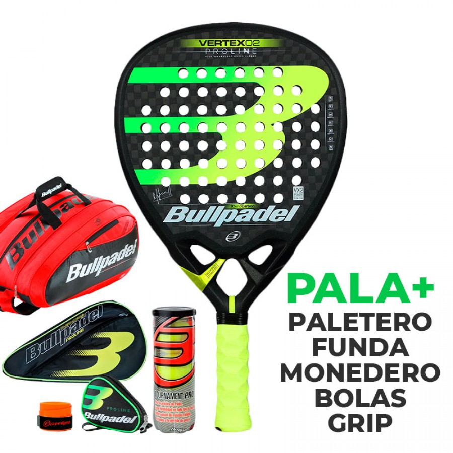 Pack Bullpadel Maxi Sanchez Vertex 2 Proline 2019 - Barata Oferta Outlet