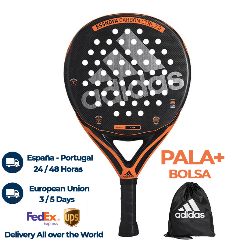 Estadio No esencial Preescolar  Adidas Essnova Carbon Control 2.0 2020 Padel Racket | Padelpoint