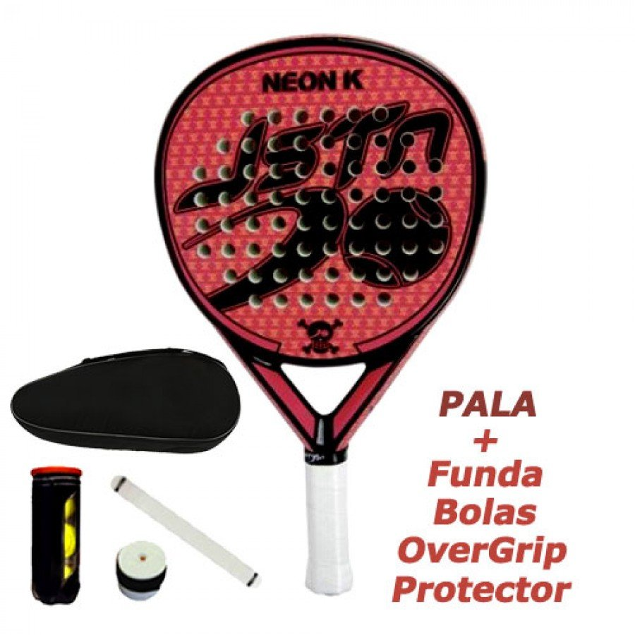 Pala de Padel JUST TEN NEON K KORAL - Barata Oferta Outlet