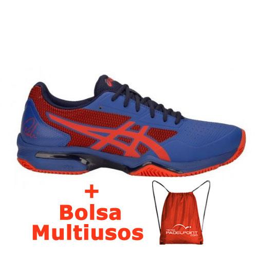 55bfadab6 -33% Zapatillas Asics Gel Lima Padel 2 Azul Rojo Fuego - Barata Oferta  Outlet