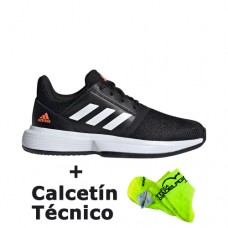 74f8197b Zapatillas Adidas Court Jam Negro Junior