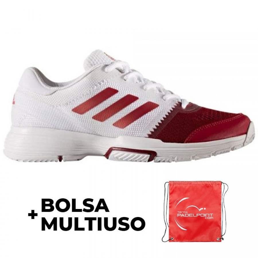 Zapatillas Adidas Barricade Club Blanco Granate