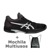 Asics Solution Speed FF Clay Black Silver - Barata Oferta Outlet