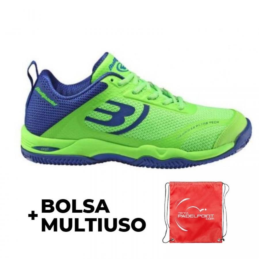 Zapatilla Bullpadel Bexer Verde Azul Real - Barata Oferta Outlet