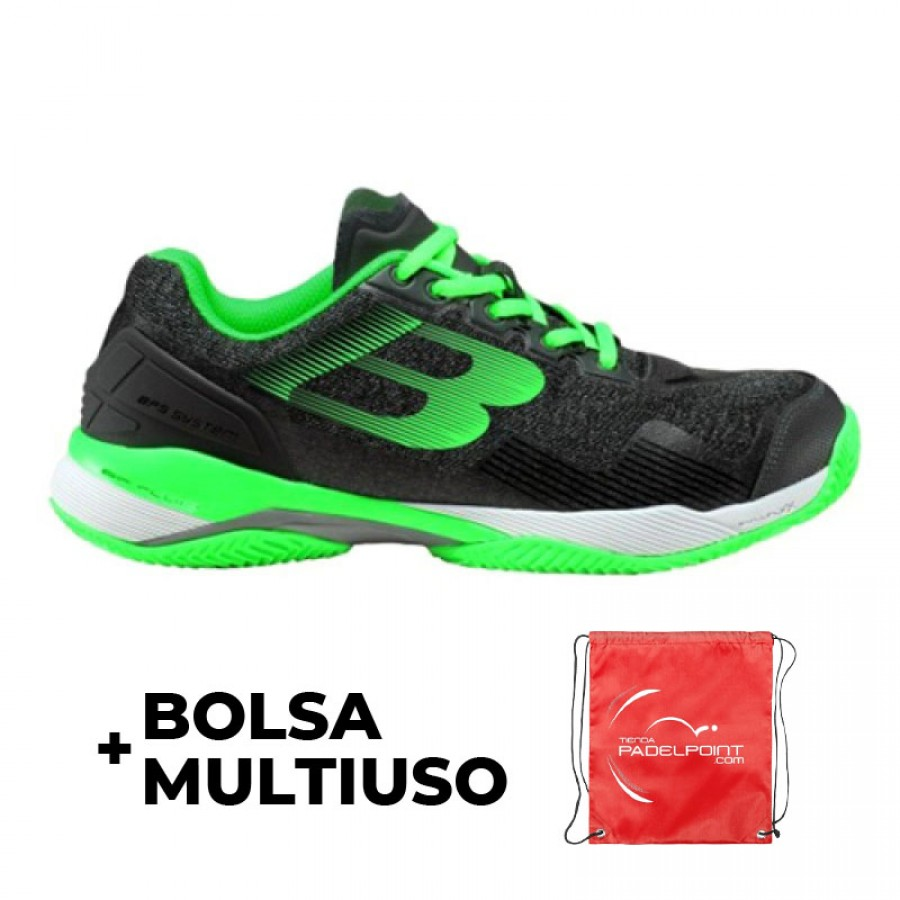 Zapatillas Bullpadel Paquito Navarro 2019 Hack Knit Gris Verde - Barata Oferta Outlet