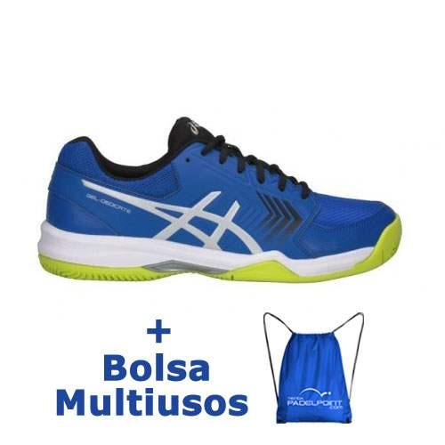 Zapatillas Asics Dedicate 5 Clay Azul Plata - Barata Oferta Outlet