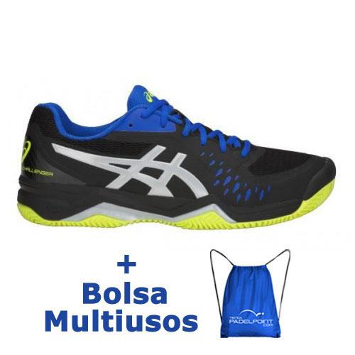 32f6d0030 -20% Zapatillas Asics Gel Challenger 12 Clay Negro Plata - Barata Oferta  Outlet