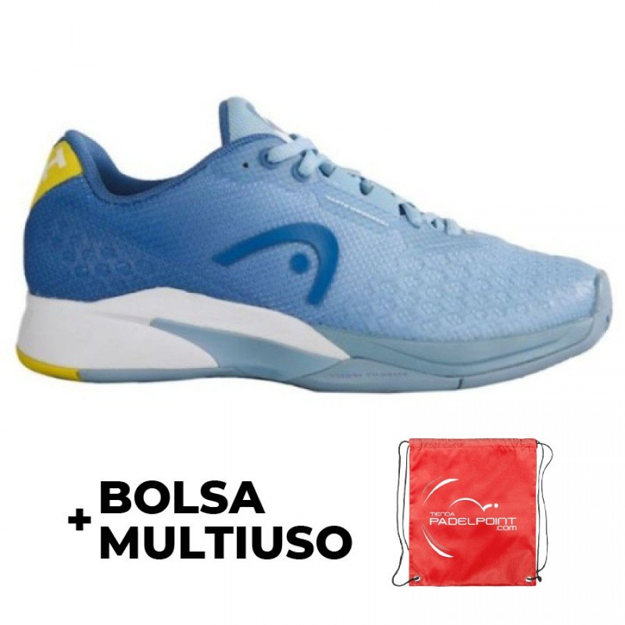 Zapatillas Head Revolt Pro 3.0 Azul Light - Barata Oferta Outlet